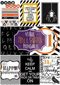 Free Halloween Decorations Printable Free Halloween Printables