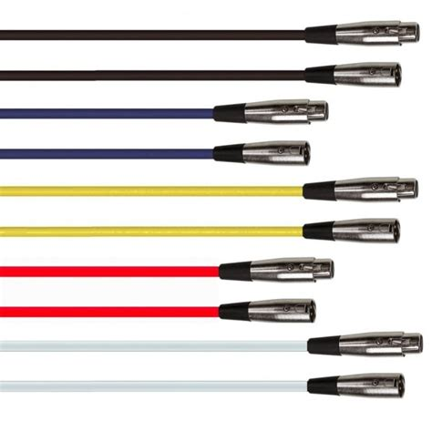 coloured 3 pin plugs coloured 3 pin xlr to socket microphone