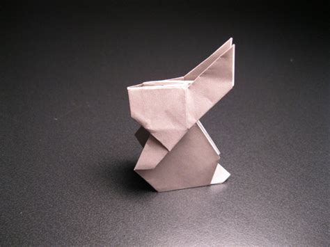 Paper Folding Rabbit - simple origami rabbit