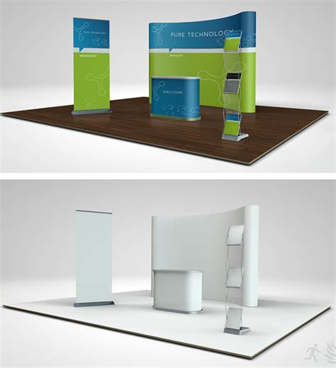 booth design free trade show booth mock up 01 02 on behance