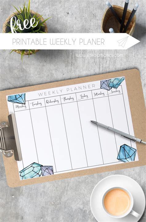 Free Printable Weekly Planner 2017
