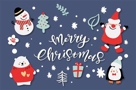 merry christmas characters graphic objects creative market