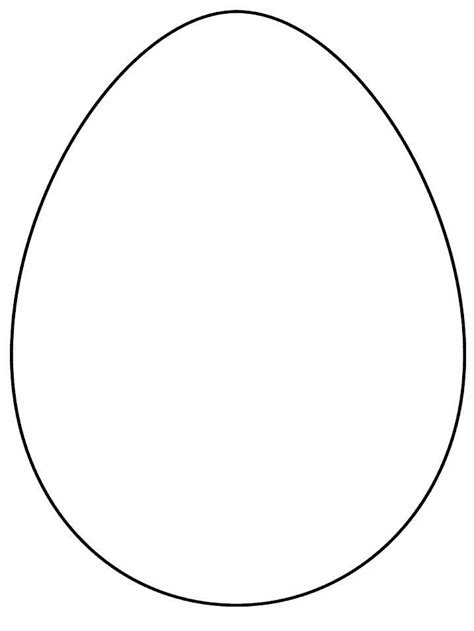 egg template size egg template easter eggs