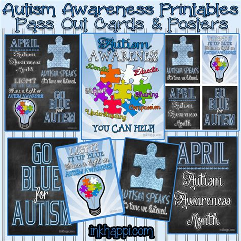 printable autism awareness bookmarks sharing something wonderful for autism awareness inkhappi