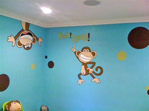 monkey wall murals wall murals for tweens exles of wall murals
