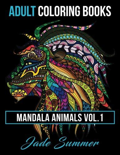mandala coloring book volume 1 mandala animals and stress relieving patterns vol 1