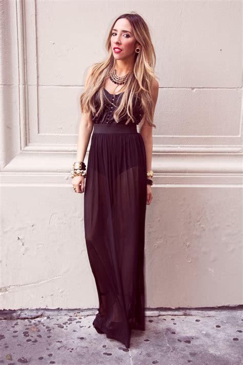 Dress Cewek Wanita Maxi Seethru Dress Black see through maxi dress black haute rebellious