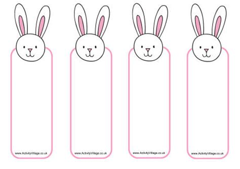 printable easter bookmarks to colour printable easter bunny bookmark craft bookmark