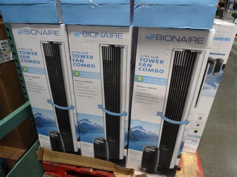 fan and heater combo tower bionaire tower fan combo