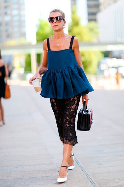 resort 2015 fashion trend black and white lace dior erdem ruffles and lace best street style from new york fashion