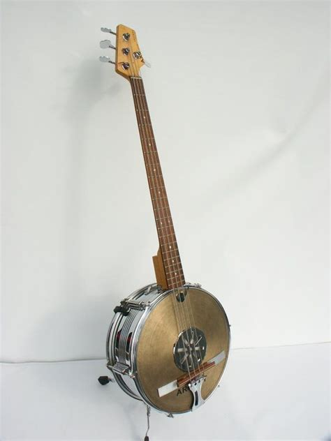 Handcrafted Banjo - banjo bass handmade custom bass guitars bass and snare drum