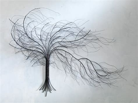 wire tree wall hanging home decor wall art