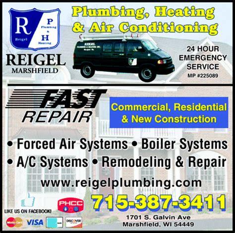 Reigel Plumbing by Reigel Plumbing Heating Air Conditioning Marshfield Wi
