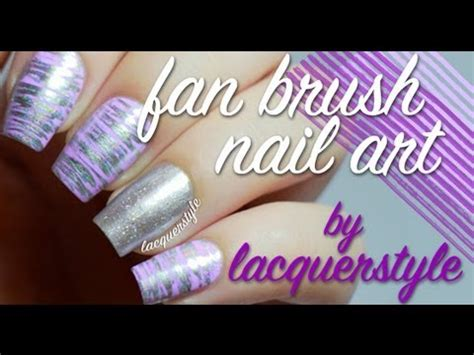 easy nail art with fan brush easy holographic fan brush nail art youtube