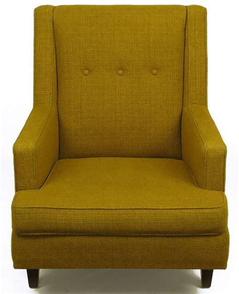 edwards upholstery edward wormley lounge chair in moss green wool upholstery