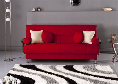 Red Chaise Sofa Best Tetris Red Convertible Sofa Bed By Sunset