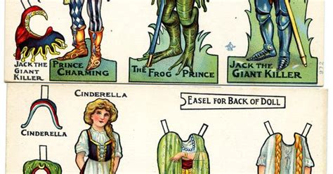 Origami Prince Charming - cinderella and prince charming paper dolls papierpuppen