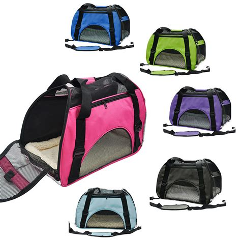 20683 Blue Shoulder Bag 3 In 1 pet travel carrier portable handbag shoulder bag outdoor for cats small dogs breathable black