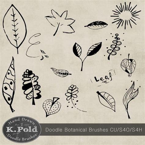 doodle flower photoshop brushes botanical doodle photoshop brushes photoshop brushes
