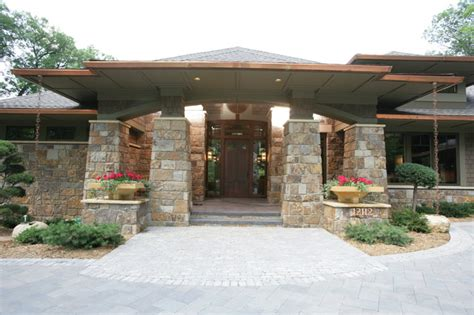 praire style prairie style in the woods traditional exterior