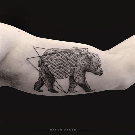 wild idea tattoo black with geometric idea tattoos