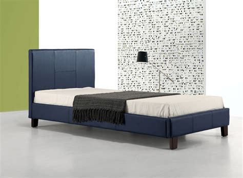 Single Leather Bed Frame Buy Single Pu Leather Bed Frame Blue At Ikoala Au Australia S Megastore