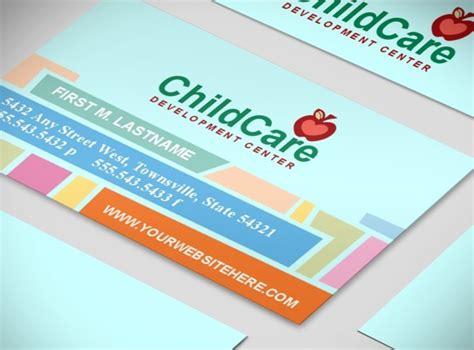 business card templates kindergarten child daycare preschool services business card