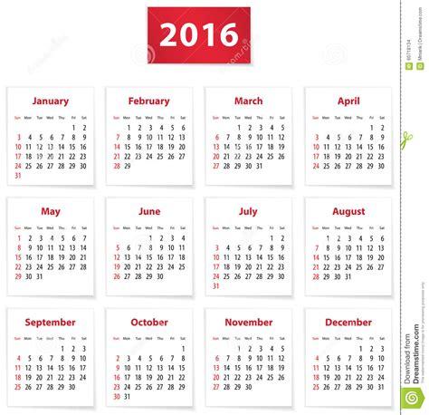 english calendar 2016 design stock vector image 61777684 2016 english calendar stock vector image 60718134