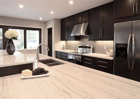 Dark Espresso Kitchen Cabinets by Contemporary Clean Lined Kitchen Design Glass Tile
