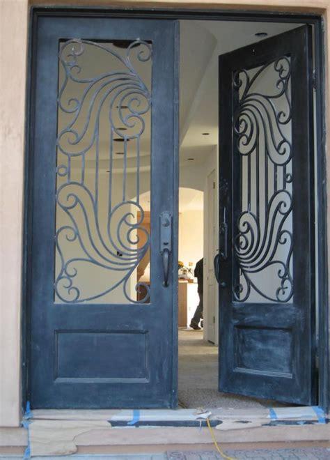 double iron door main iron safety door designs  home