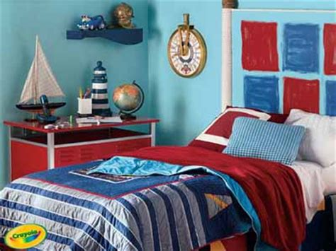 blue and red bedroom ideas nautical bedroom decor bright colors fun decorating