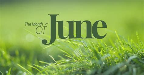 June ? sixth month of the year