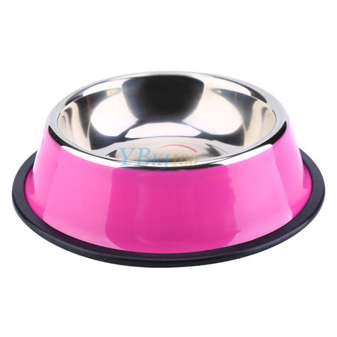 puppy food bowl pets cat puppy no slip stainless steel travel feeding food water bowl dish ebay