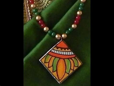 fashion jewellery kerala mural painting pendent