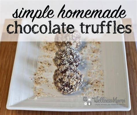 Handmade Chocolate Truffles Recipe - 20 of the most diy gifts for the in