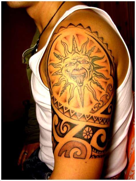 sun tattoo for men tribal sun designs for on sleeve rising sun