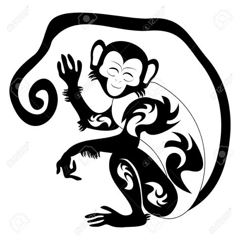 tribal monkey tattoo meaning collection of 25 tribal monkey