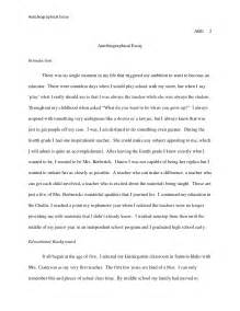 How To Write A Biographical Essay by Autobiographical Essay