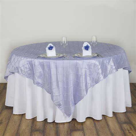 15 pc 60x60 quot pintuck table overlays wedding linen supply
