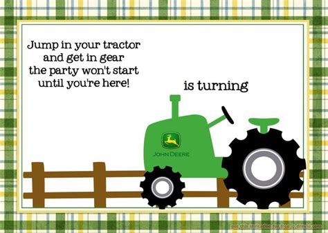 printable john deere birthday cards nice free printable john deere tractor birthday invitation