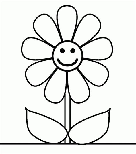 imagenes de flores infantiles a color imagenes para colorear gratis