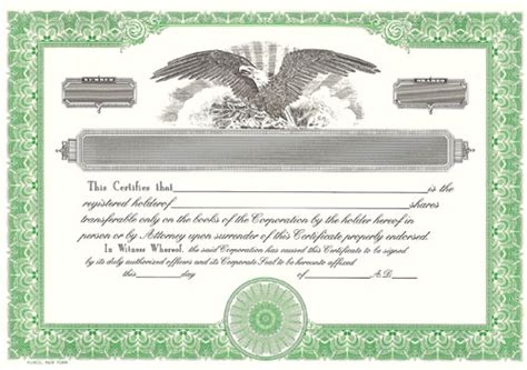 blank certificates corporation blank stock certificates