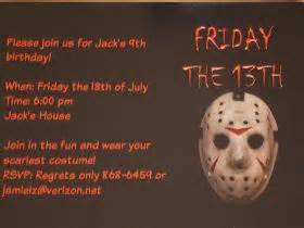 Friday The  Ee  Th Ee   Party Invitations F Pinterest The