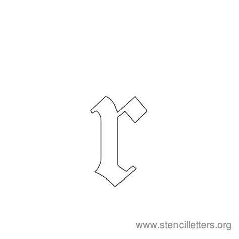 small r stencil letters lowercase stencil letters org