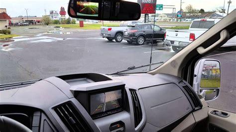ford transit conversion van navigation blind spot camera upgrades youtube
