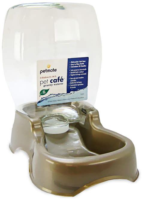 petmate cafe waterer  gallon pearl tan