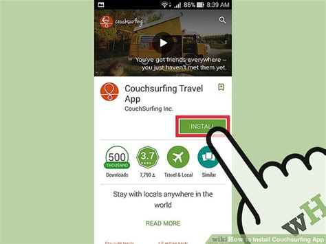 couch surfer app how to install couchsurfing app 8 steps with pictures