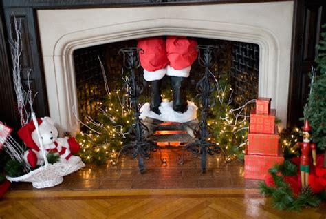 why does santa claus come down the chimney mental floss