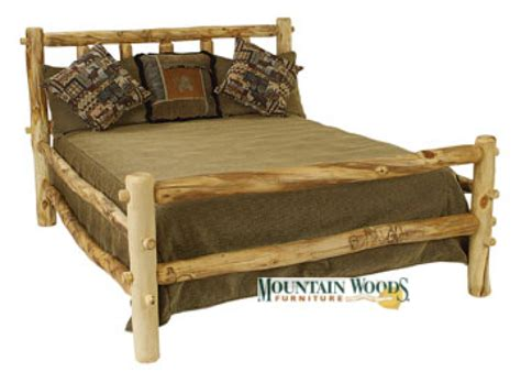 Log Furniture by Handcrafted Rustic Aspen Log Furniture And Pine Log