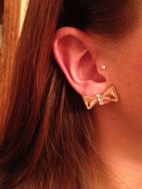 best tragus piercing jewelry 36 best industrial bar images on ears piercing